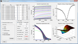 Magnetocaloric Effect Analysis Software