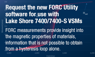 Request the new first-order-reversal-curve (FORC) utility software